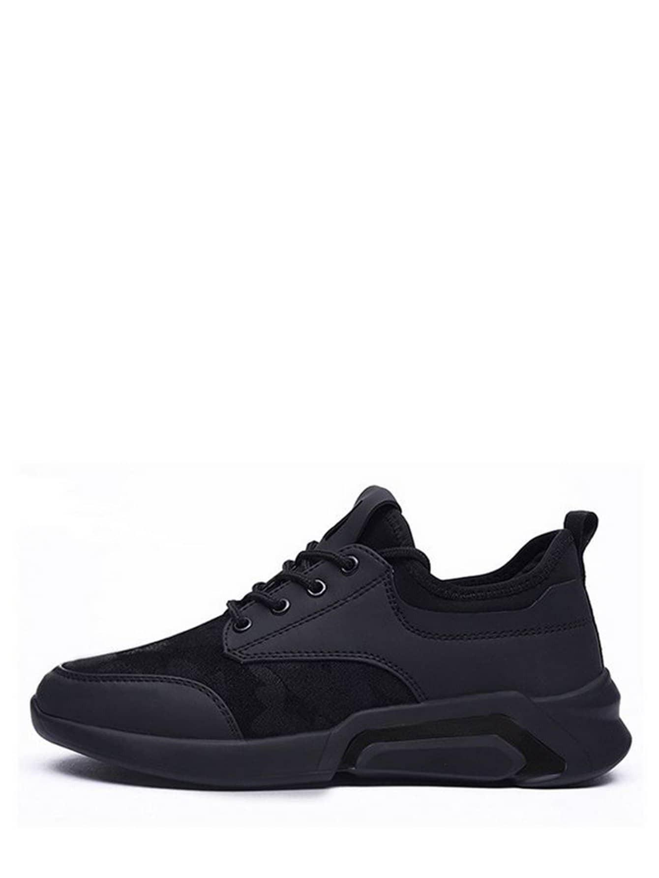Men Lace Up Mesh Sneakers