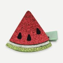 Girls Watermelon Decorated Glitter Hair Clip