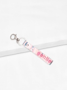 Letter Print Keychain