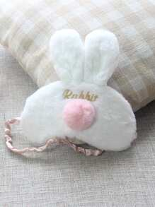 Rabbit Ear Detail Plush Eye Mask