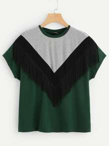 Cut And Sew Fringe Top
