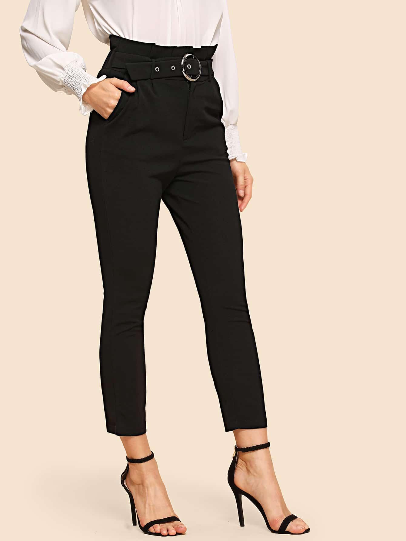 80s брюки с карманами и плиссированной талией thumbnail