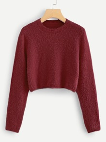 Crop Fuzzy Jumper