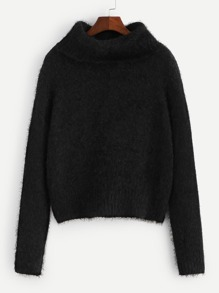 Turtleneck Fluffy Jumper