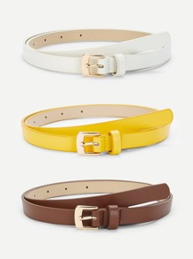 Metal Buckle Belt 3pack