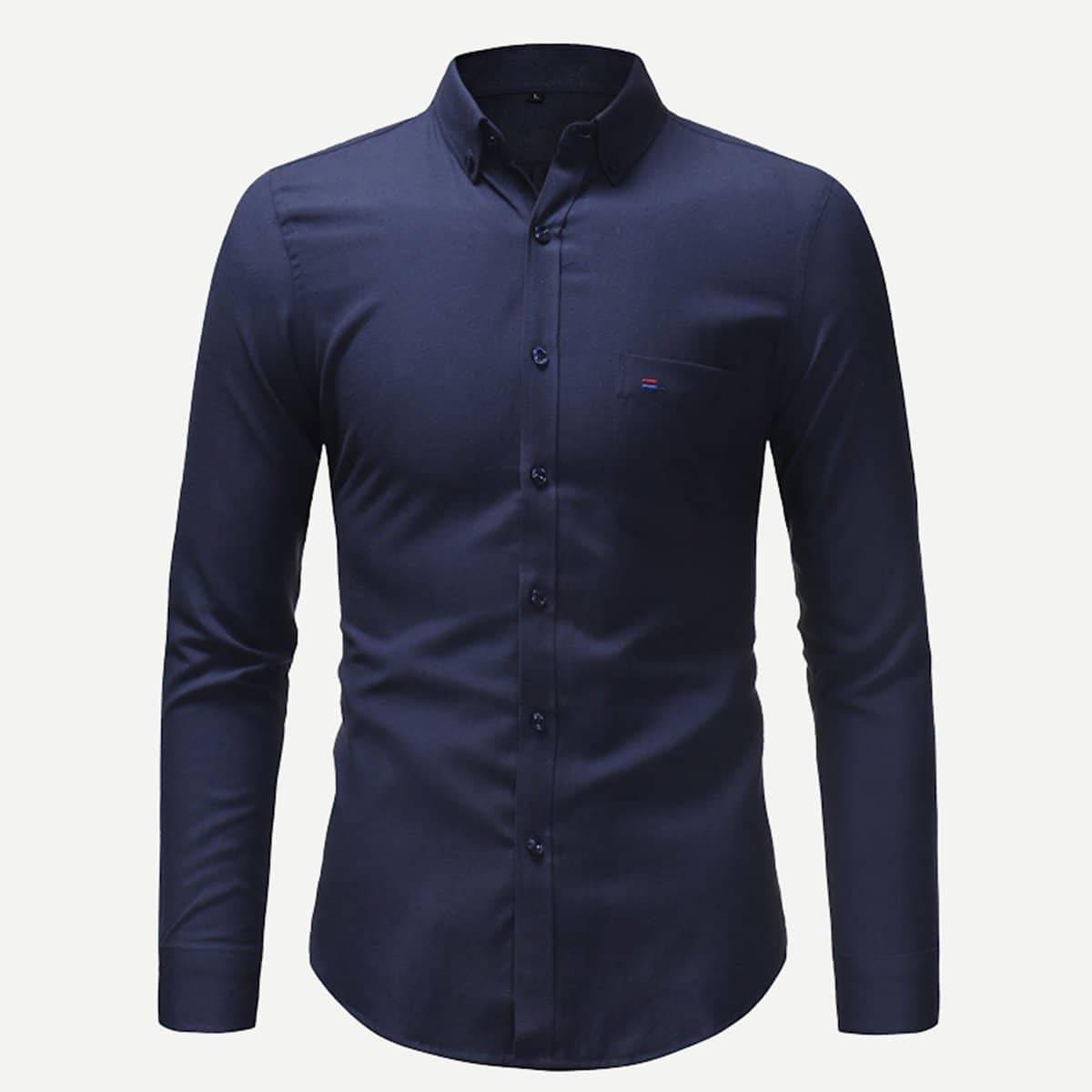 SHEIN coupon: Men Solid Skinny Shirt
