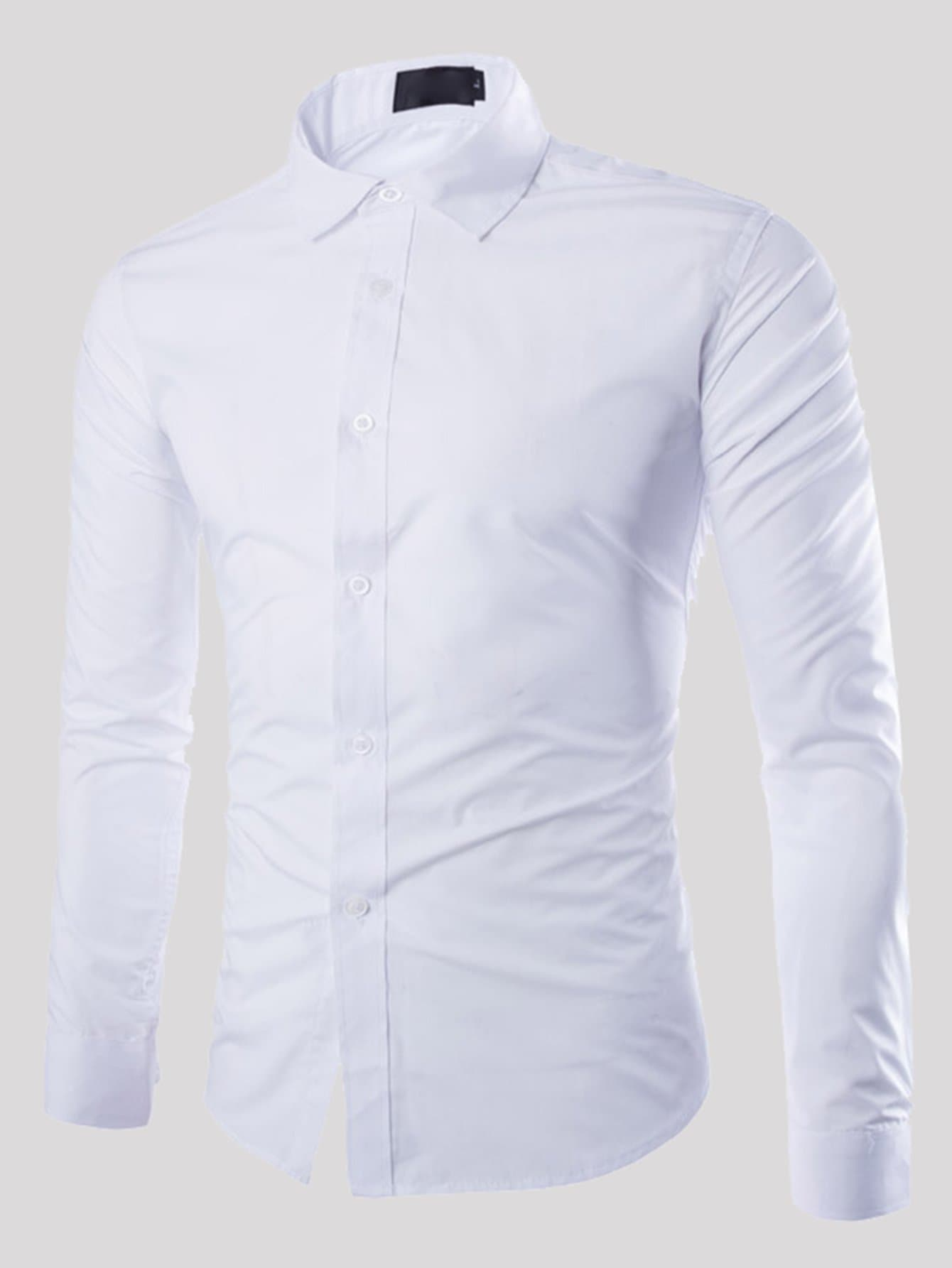 Men Solid Skinny Shirt Men Solid Skinny Shirt