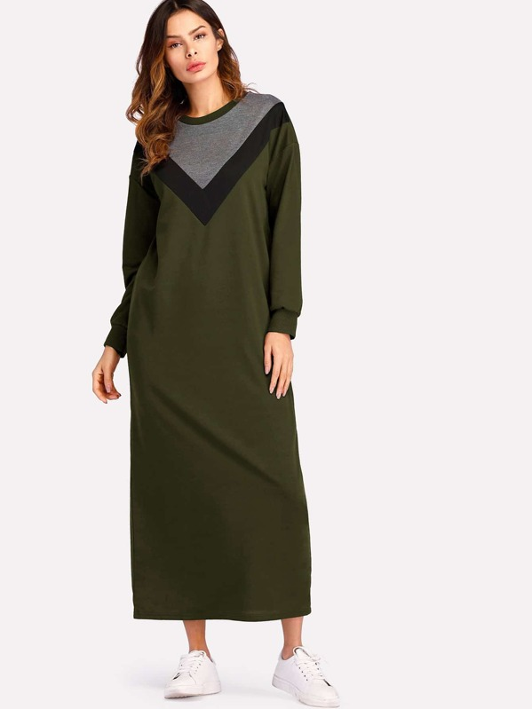 e172ad51c87 Cut   Sew Maxi Sweatshirt Dress