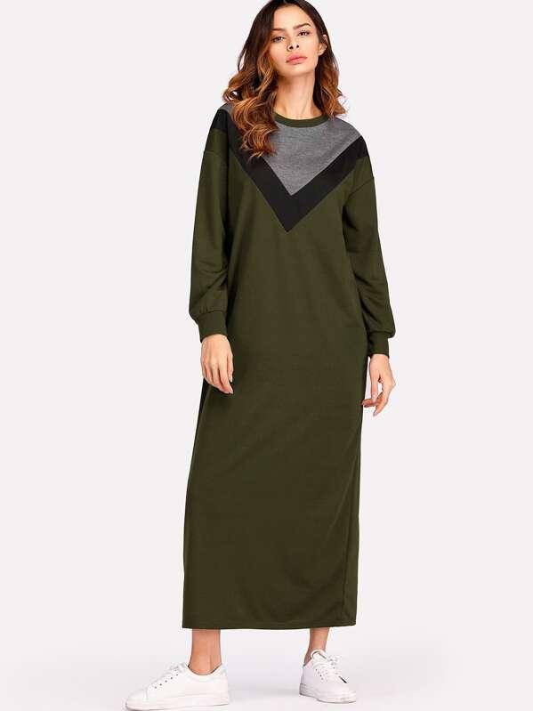 a31a707a04 Cut   Sew Maxi Sweatshirt Dress