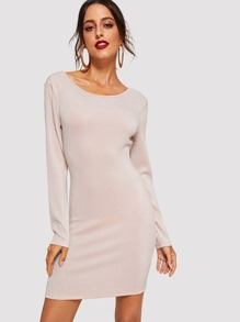 Solid Slim Fitted Dress