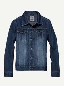 Men Washed Denim Jacket