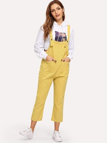 Pocket Detail Straight Leg Jumpsuit