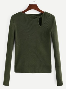 Cut-Out Twist Detail Sweater
