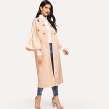 3D Applique Flounce Sleeve Abaya