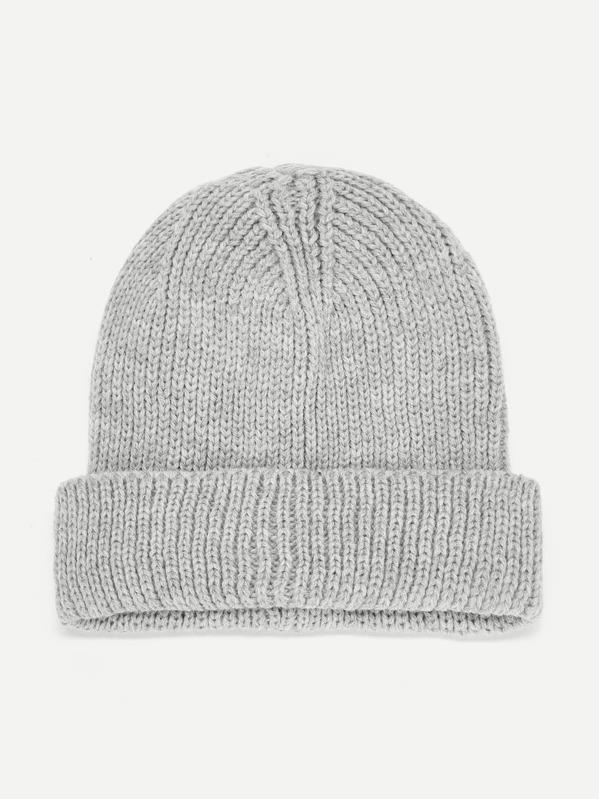 733c65cbee Kids Knit Cuffed Beanie Hat | SHEIN