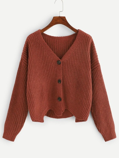 75404f96ddd Single Breasted Asymmetrical Sweater
