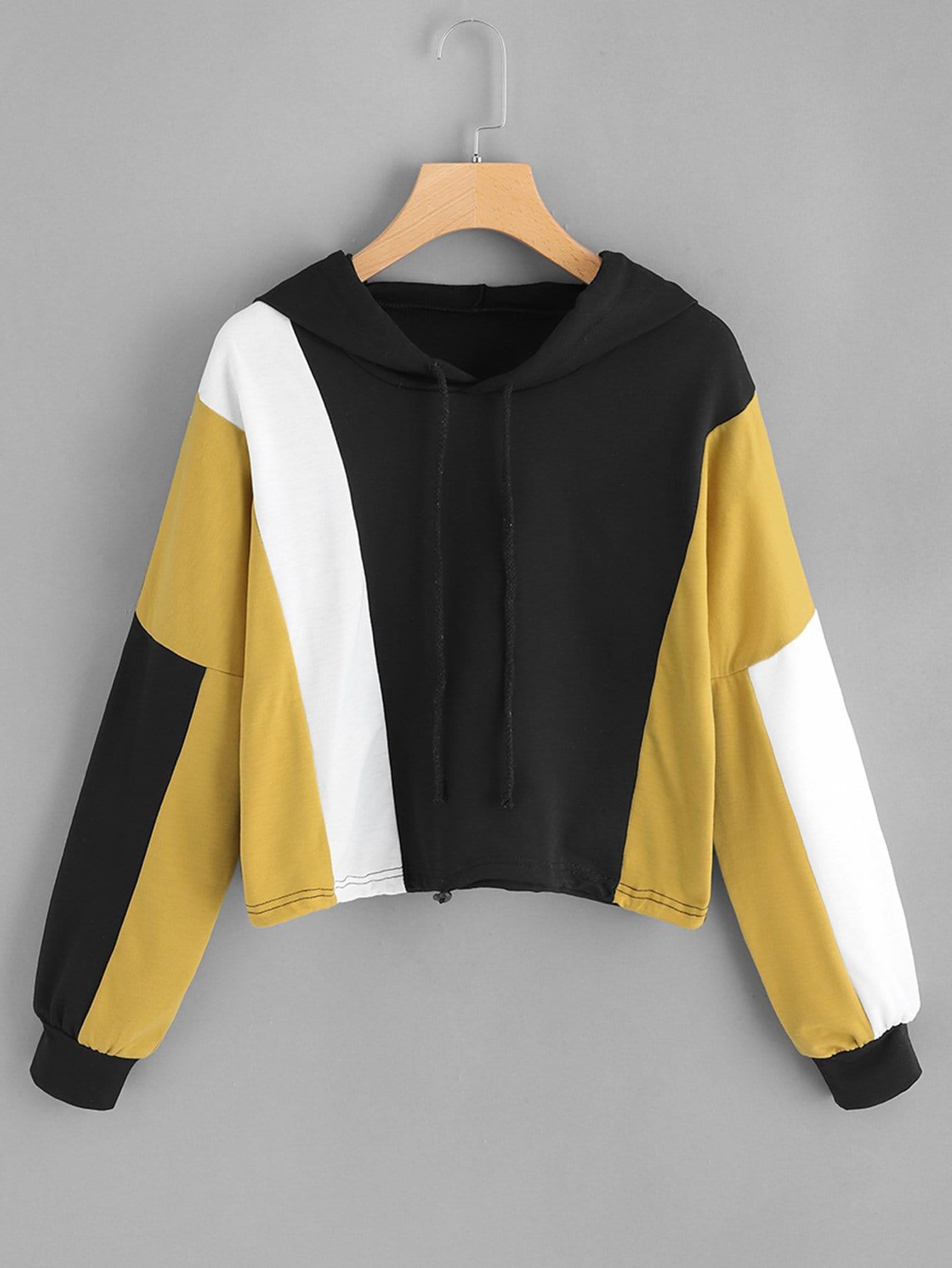 Color-block Hooded Sweatshirt Color-block Hooded Sweatshirt