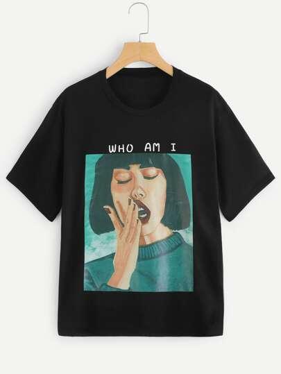 c6c6127f64 Women's T-Shirts, Oversized & Designer T-Shirts | SHEIN IN