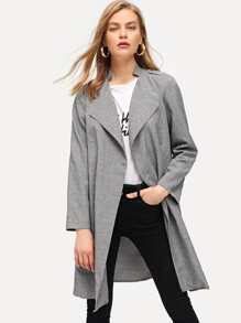 Waterfall Solid Long Coat