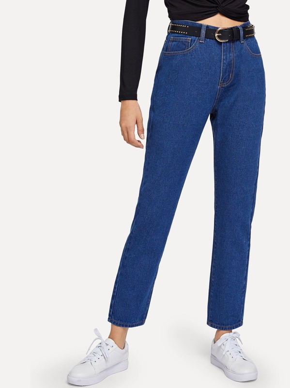 733d85baf7 High Waist Straight Leg Jeans | SHEIN IN