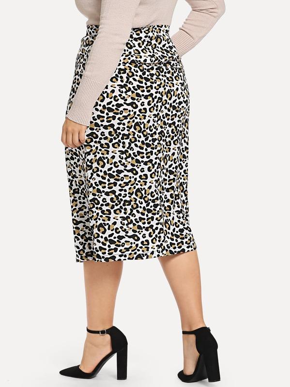 3e1edbef75a Plus Leopard Print Pencil Skirt