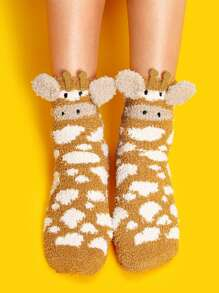 Cartoon Fluffy Socks 1pair