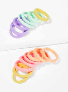 Plain Elastic Hair Tie 15pcs