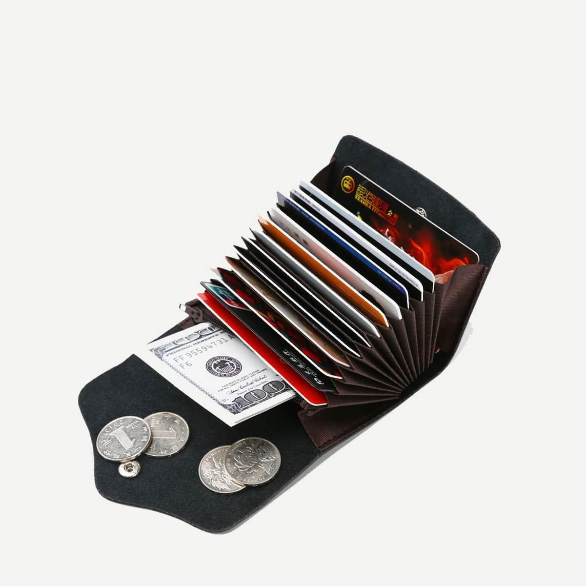 Umgeschlagener Kartenhalter