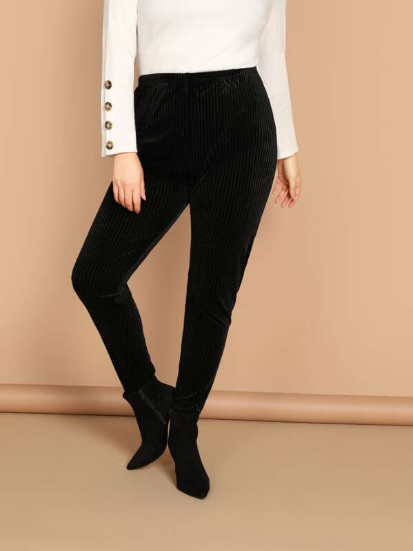 2e4d85590 Cheap Plus High Waist Velvet Leggings for sale Australia | SHEIN