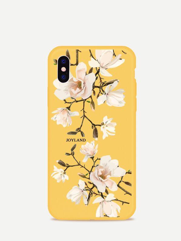 f974a2e986 Flower Print iPhone Case | SHEIN