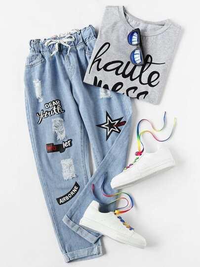 83338e0e68c14 Plus Size Jeans | Plus Size Jeans Online | SHEIN