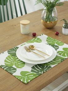 Tropical Leaf Print Placemat