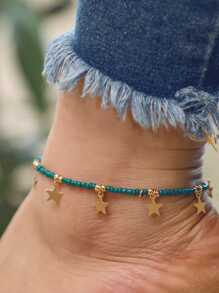 Star Charm Beaded Anklet
