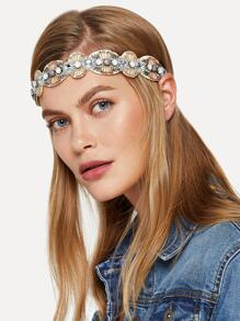 Rhinestone Decorated Headband