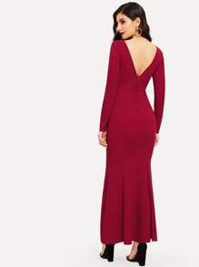 Solid Bodycon Maxi Dress