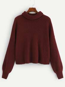 Plus Solid Rib-knit Sweater