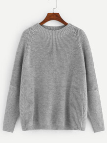 Plus Raglan Sleeve Round Neck Jumper