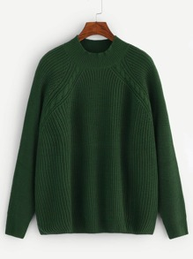Plus Cable Knit Raglan Sleeve Jumper