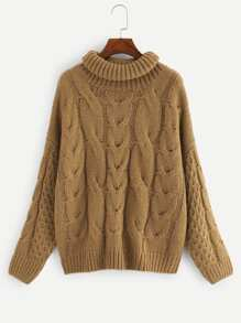 Plus Mixed Knit Drop Shoulder Jumper