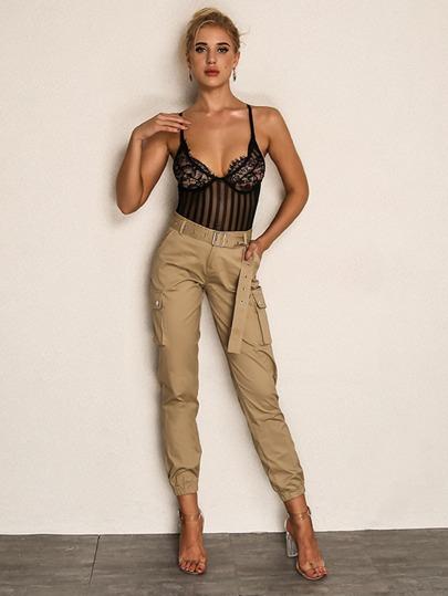 b9387738961d2 Joyfunear Pantalon avec poches et ceinture