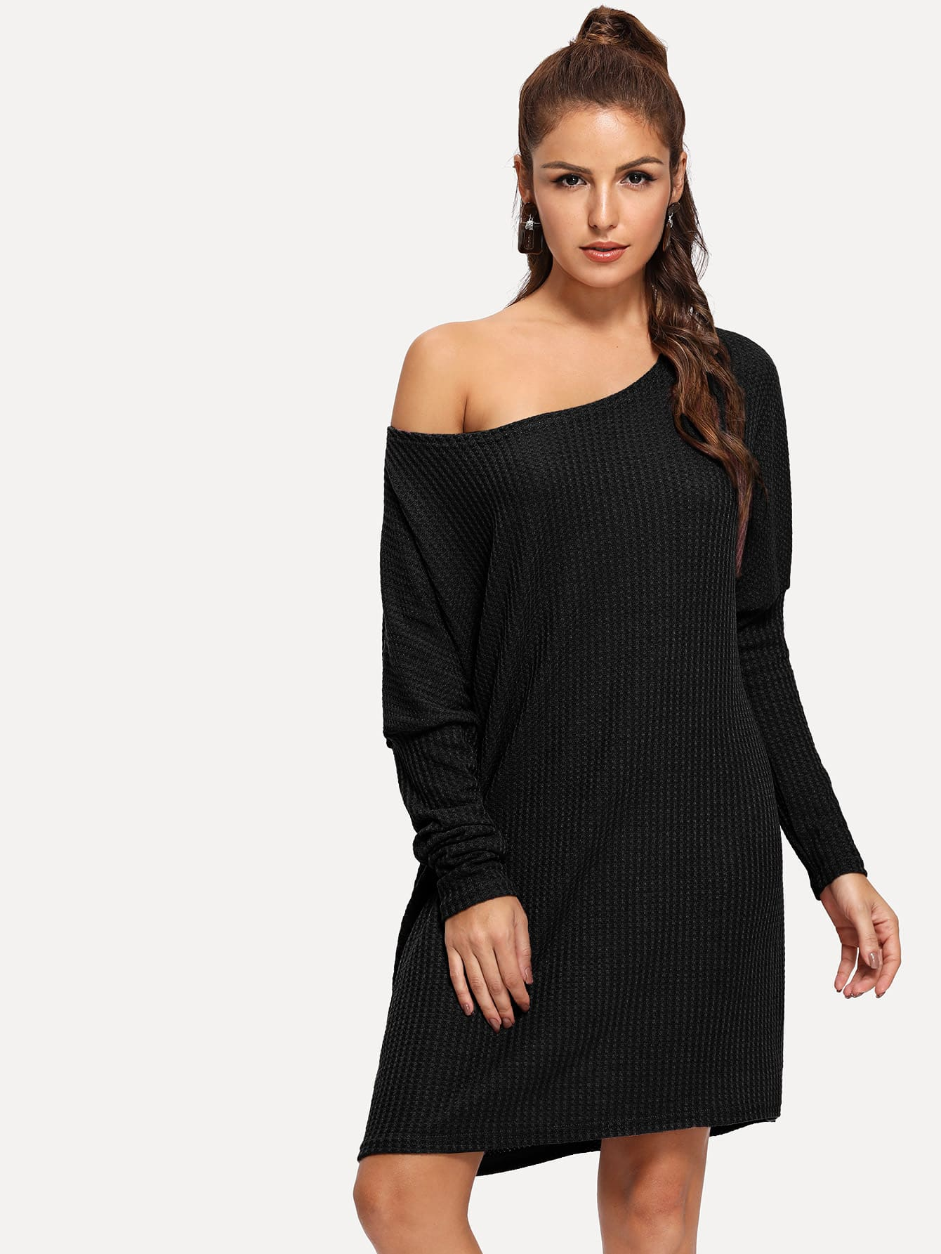 Leg-of-mutton Sleeve Sweater Dress Leg-of-mutton Sleeve Sweater Dress