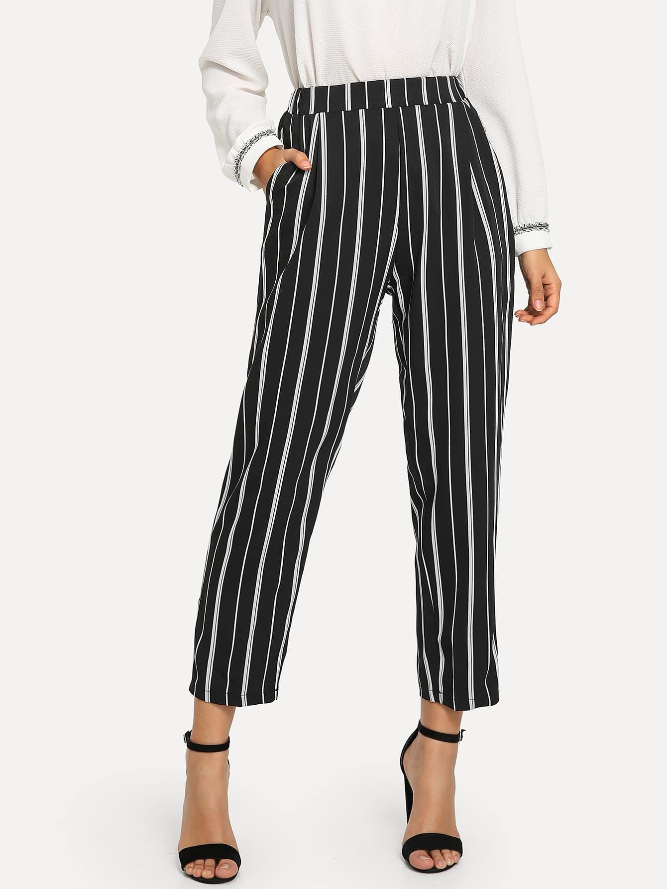 Striped Crop Pants Striped Crop Pants
