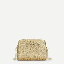 Sequin Design Chain Crossbody Bag