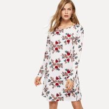 Allover Flower Print Dress