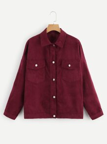 Plus Flap Pocket Front Cord Jacket