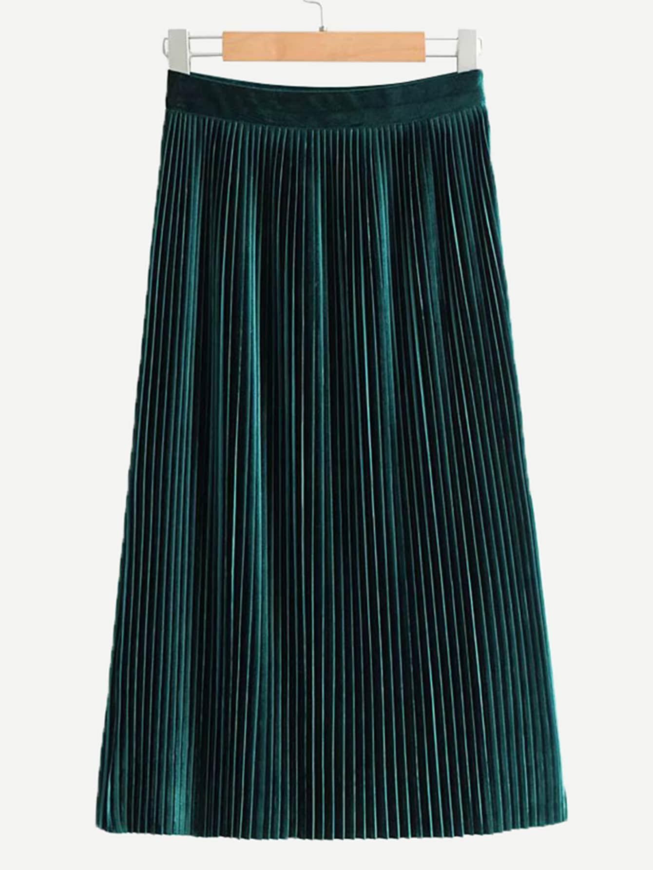 Pleated Velvet Skirt Pleated Velvet Skirt