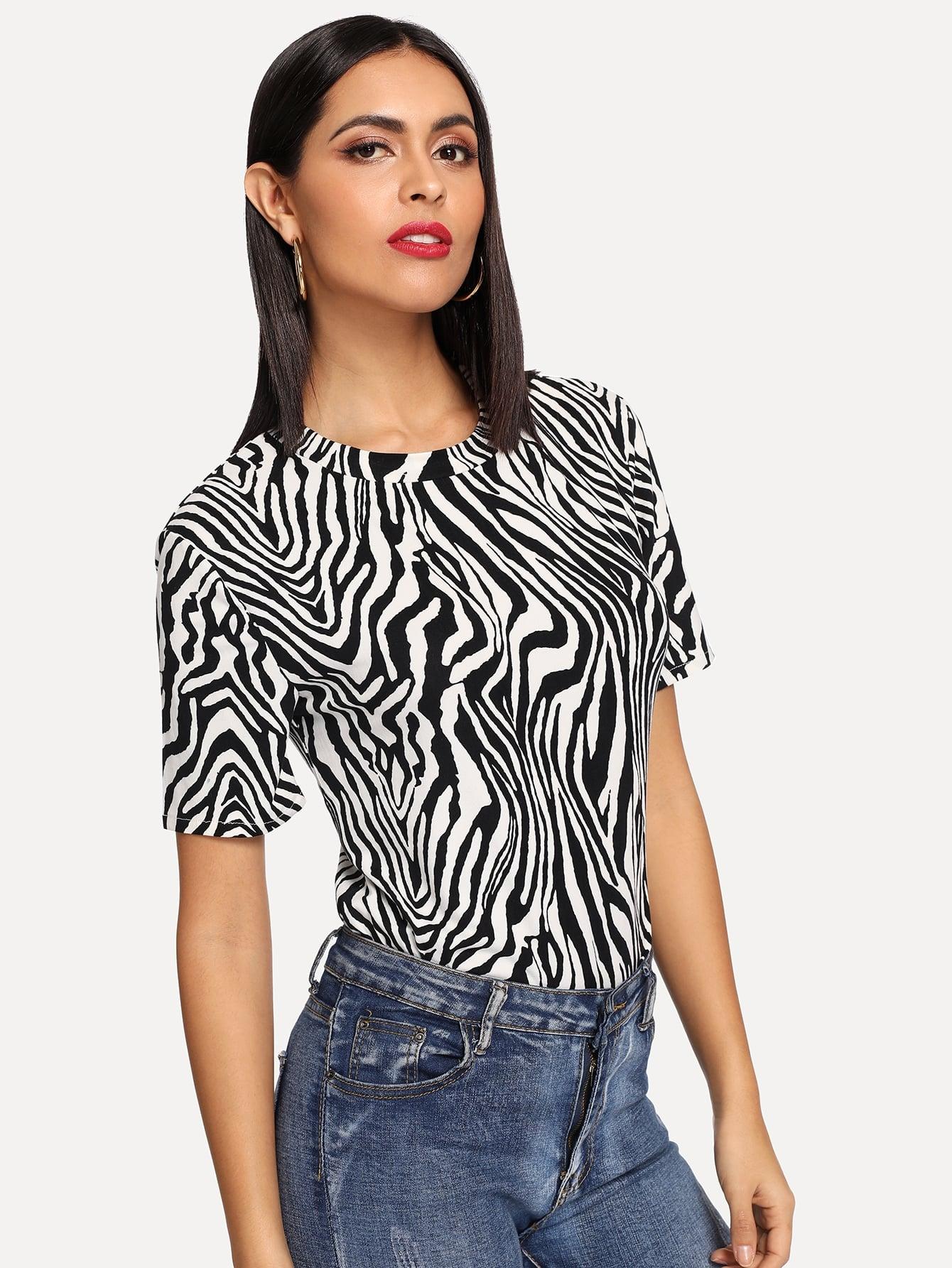 Zebra Print Tee Zebra Print Tee