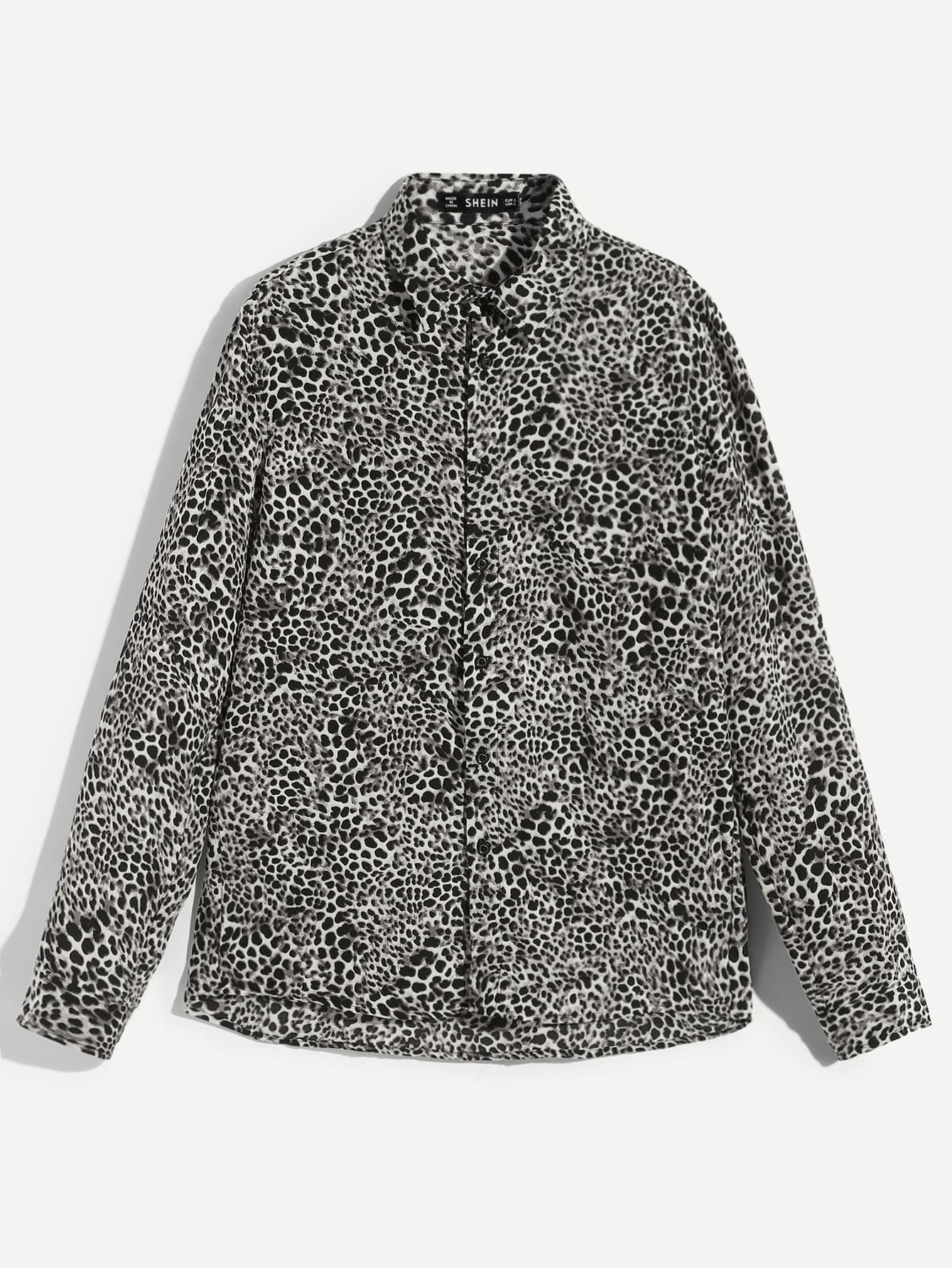 Men Leopard Shirt Men Leopard Shirt