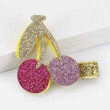 Girls Cherry Decorated Glitter Hair Clip
