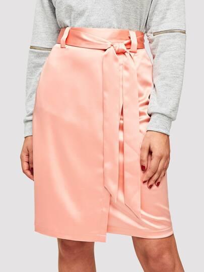 11fcd6a5f5a5 Rosa Asymmetrisk Slätt Tillfällig Kjolar